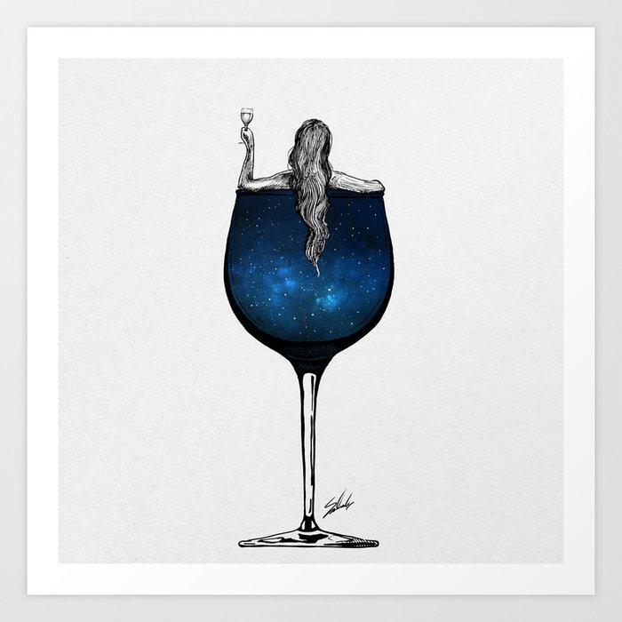 Wine night. Kunstdrucke