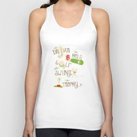 golf Tank Tops featuring Golf  by Crea Bisontine