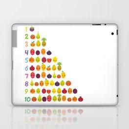 numbers for preschool kindergarten kids kawaii fruit from one to ten Laptop & iPad Skin