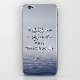 Cast All Your Anxiety on Him iPhone Skin