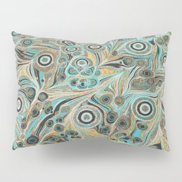 Gold Psychedelic Glitter Marble Explosion Pillow Sham