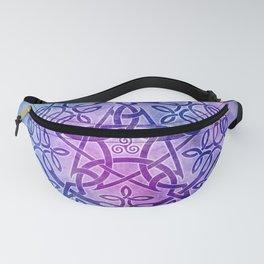 Mystic Purple Celtic Pentacle Pentagram Fanny Pack