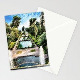Tivoli, Italy Villa d'Este Fountains & Gardens Landscape by Jeanpaul Ferro Stationery Cards