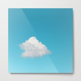 Happy Cloud Metal Print