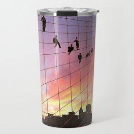Brooklyn Bridge Painters Quitting Time Travel Mug