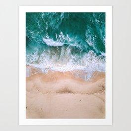 Ocean sand beach  Art Print