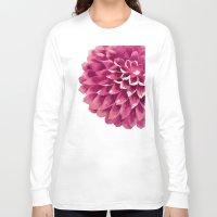 dahlia Long Sleeve T-shirts featuring dahlia by alanzhu