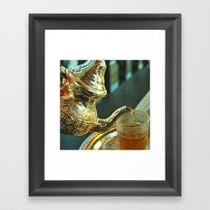 Moroccan mint tea Framed Art Print
