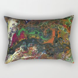 The Reef II - Original, abstract, fluid, acrylic painting Rectangular Pillow