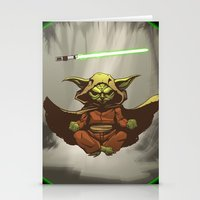 yoda Stationery Cards featuring Yoda by Marc Vuletich