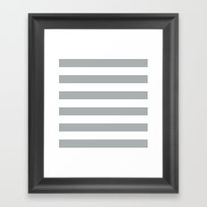 Stripe Horizontal Grey & White Framed Art Print