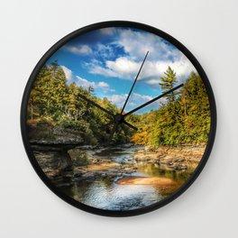 Swallow Falls Landscape Wall Clock