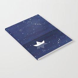 Zen sailing, ocean, stars Notebook