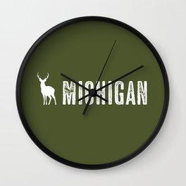 Deer: Michigan Wall Clock