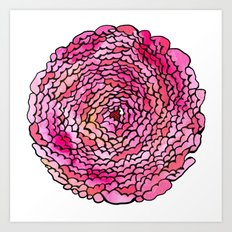 A many (many, many) petaled flower Art Print