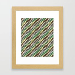 Abstract camouflage pattern. Framed Art Print