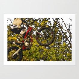 Airtime - Dirt-bike Racer Art Print
