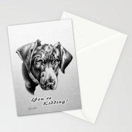 You're Kidding : Black Labrador Stationery Cards