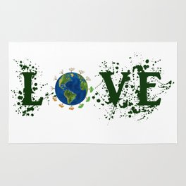 Earth Day Love Mother Earth Rug