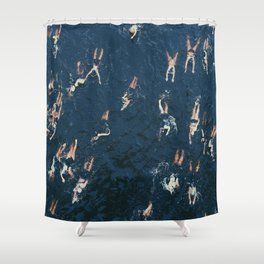 Swim swim Shower Curtain
