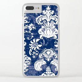 navy and white breeze Clear iPhone Case