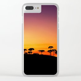Araucaria Sunset Clear iPhone Case