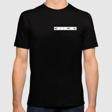 One across (little clue) Black Mens Fitted Tee MEDIUM