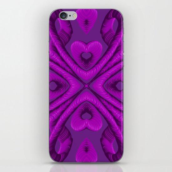 Hot Pink Hearts iPhone & iPod Skin