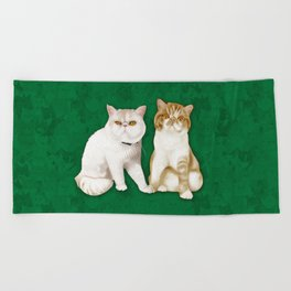 Teagues and Oliver Beach Towel