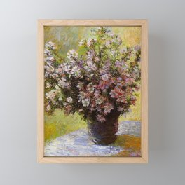 Claude Monet Bouquet of Mallows 1880 Framed Mini Art Print