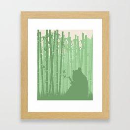 Panda in a Bamboo Forest Framed Art Print