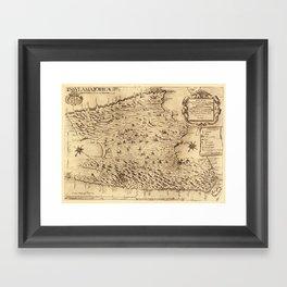 Map Of Majorca 1683 Framed Art Print