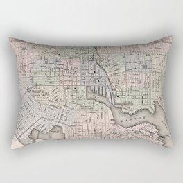 Vintage Map of Baltimore MD (1876) Rectangular Pillow