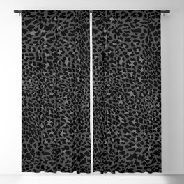 BLACK PANTHER JAGUAR, LEOPARD, CHEETAH WILDCAT ANIMAL SKIN Blackout Curtain