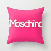 moschino Throw Pillows featuring Moschino Barbie by RickyRicardo787
