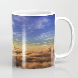 Fantasy Castle Sky Tower On Cloud Coffee Mug