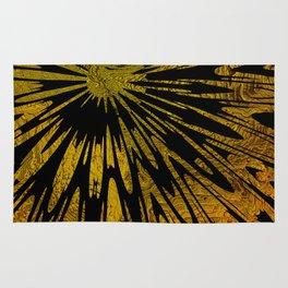 Native Tapestry in Gold Rug