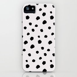 black & very light gray /geometric series iPhone Case