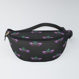 Mardi Gras Mask Purple Green Gold Sparkles Fanny Pack