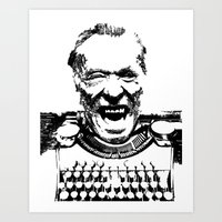 bukowski Art Prints featuring Bukowski  by The_Starving_Artist
