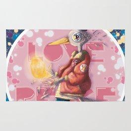 love, bird, egg and peace Rug