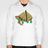 turtles Hoodies featuring ninja by Louis Roskosch