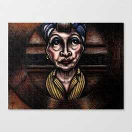 Minnie Castevet at the Peephole (from Rosemary's Baby) Canvas Print