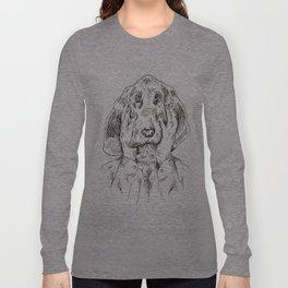 Sad Bloodhound Long Sleeve T-shirt