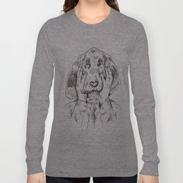 Sad Bloodhound Long Sleeve T-shirt