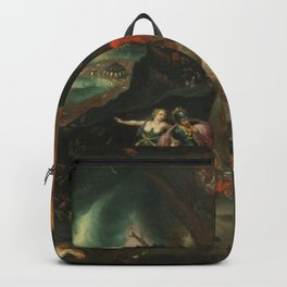 aeneas and the sibyl in the eye's underworld Backpack