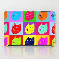 shiba iPad Cases featuring Pop art shiba  by Sylwia Borkowska