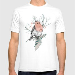 Robin on Birch T-shirt