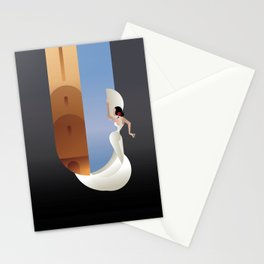 Art Deco styled Spain Flamenco dancer Stationery Cards