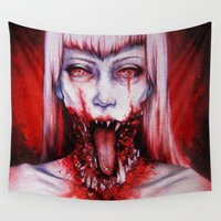 gore Wall Tapestries featuring phobic by marziiporn